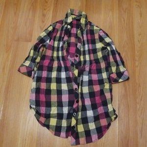 Womans plaid shirt.